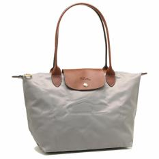 The Cheapest Longchamp Le Pliage 2605 Nylon Tote Small Putty Grey Online