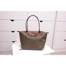 38854cdff478 Longchamp Le Pliage Long Handle Small Khaki 2605 089 A23