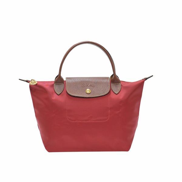 Longchamp Rouge Le Pliage Small Handbag (Short Handle)