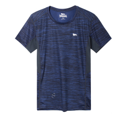 Low Cost Lonsdale Outdoor Quick Drying T Shirt Summer Casual Loose Sweat Short Sleeved T Shirt Men S Sports Breathable Quick Drying Clothes Dark Blue Color