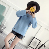 Best Offer Puff Sleeve Winter New Style Loose Fit Sweater