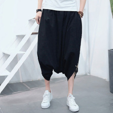 Purchase Men S Summer Pants Back Rise Width Trousers Black