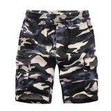 Looesn Cotton Men S Summer Multi Pocket Shorts Camouflage Shorts Blue Free Shipping
