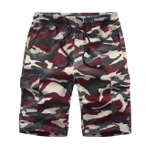 Looesn Cotton Men S Summer Multi Pocket Shorts Camouflage Shorts Red In Stock