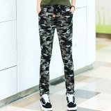 Price Looesn Female Autumn Korean Style Casual Pants Camouflage Pants Camouflage Gray Oem