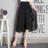 Discount Women S Plus Size Chiffon High Waist Cropped Loose Pants Oem On China