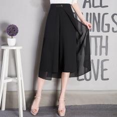 Discount Women S Plus Size Chiffon High Waist Cropped Loose Pants Oem On China