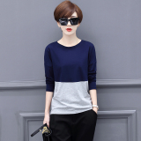 Review Loose Korean Cotton New Sheath Top T Shirt Blue Gray Color Blue Gray Color On China