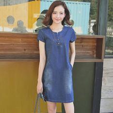 Buy Women S Korean Style Spring Slimming Jean Dress Dark Dark On China