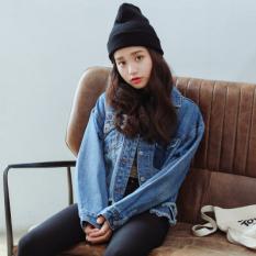 Best Looesn Korean Style Irregular Raw Cut Short Cowboy Jacket