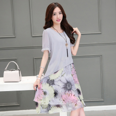 Purchase Mm Korean Style Chiffon Plus Sized New Style Dress Online