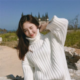 Buy Looesn Korean Style Yarn Pullover Base Knit Shirt With High Collar Sweater
