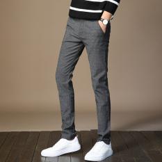 Stylish Youth Slim Fit Thin Pants Pants Gray On Line