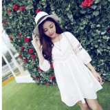 Looesn Lace Crochet Pregnant Women S Slimming Dress For Sale Online
