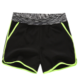 Get The Best Price For Mm Female Running Loose Slimming Su Gan Ku Shorts Black Fluorescent Light Green Edge
