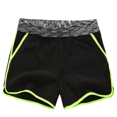 Buy Cheap Mm Female Running Loose Slimming Su Gan Ku Shorts Black Fluorescent Light Green Edge