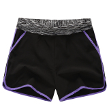 How To Buy Mm Female Running Loose Slimming Su Gan Ku Shorts Black Purple Edge