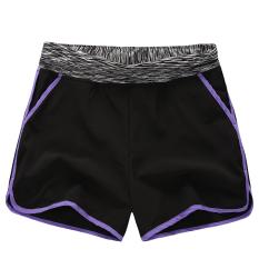 Mm Female Running Loose Slimming Su Gan Ku Shorts Black Purple Edge Compare Prices