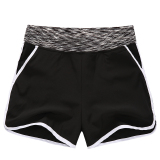 Mm Female Running Loose Slimming Su Gan Ku Shorts Black White Side Compare Prices