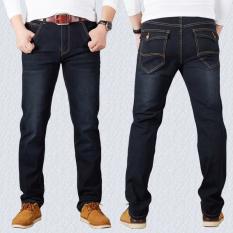 Men S Elastic Straight Leg Jeans Black Blue Tenga Black Tenga Black On China