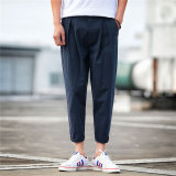 Review Looesn Men S Plus Sized Linen Pants Cotton Linen Casual Pants Dark Blue Color On China