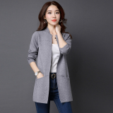 Buy Spring New Style Loose Fit Sweater Cardigan Gray Cheap China