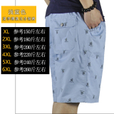 Low Price Loose Fit Hip Hop Male Summer Shorts Fat Shorts 6018 Light Blue