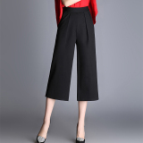 Compare Price Looesn Straight Plus Sized Suit Pants Wide Leg Pants Black Oem On China