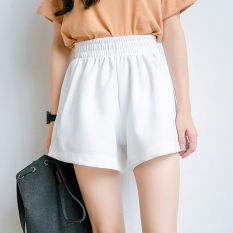 Loose Versatile Female New Style Elastic Shorts Men S Shorts White Promo Code