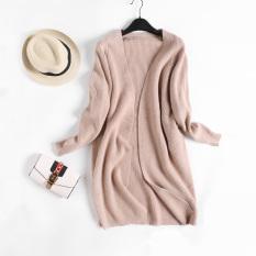 Best Deal Loose Versitile Fashion Plain Female Slimming Knit Cardigan New Style Men S Sweaters Khaki