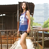 Sale Loose Breathable Sleeveless Vest Running Blouse Fitness Clothes Blue Blue Oem Original