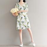 Loose Artistic Cotton Linen Women Mid Length Improved Cheongsam Dress Dress Coupon Code
