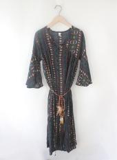 Sale Loose Bohemian Female Beach By Long Dress Dress Blue Blue Other Original