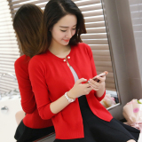 Sale Loose Cardigan Female Short Sweater Red China Cheap