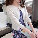 Where Can You Buy Loose Cardigan Female Short Sweater White