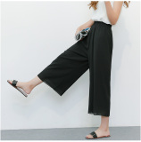 Buy Women S Slim Fit Chiffon Culottes Black Black China