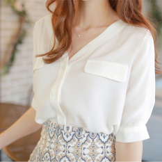 Price Loose Korean Female New Style Top Chiffon Shirt White On China