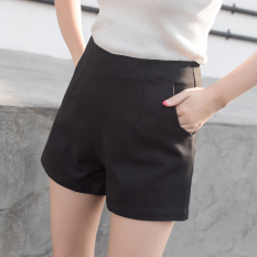Sale Loose Korean Style Chiffon Black Female Shorts Black Online On China