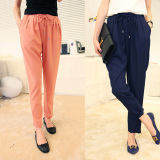 Compare Prices For Women S Thin Chiffon Pants Black Dark Blue Pink Dark Blue Color Dark Blue Color