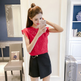 Compare Price Korean Style Stitched Pattern Female New Style Blouse Base Shirt Red Oem On China