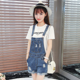 Best Buy Loose Korean Female L Halter Jumpsuit Denim Jumper Pants
