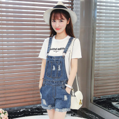 Sale Loose Korean Female L Halter Jumpsuit Denim Jumper Pants Online China