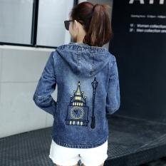 Low Cost Loose Korean Style Female Long Sleeve Top Versatile Cowboy Jackets Coats