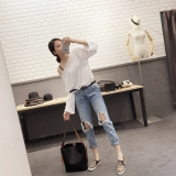 For Sale Loose Korean Style Light Spring Students Jeans Washed Cowboy