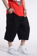 Buy Loose Fit Oversized Casual Trousers Pants For Men Black Black