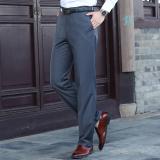 New Loose Men Slim Fit Professional Suit Pants Men S Trousers Dark Gray Color