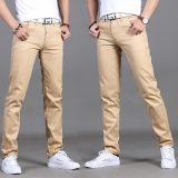 Top 10 Men S Korean Style Plus Size Stylist Pants Khaki 919 Paragraph Khaki 919 Paragraph