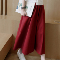 Discount Loose New Casual Pants Wide Leg Pants Wine Red Color China