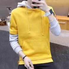 Review Loose New Style Men S Hoodie 5008 Fake Two A Yellow On China