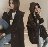 Best Reviews Of Loose Thin Section Bf Windbreaker Jacket Baseball Uniform Harajuku Wind Long Sleeved Hooded Cardigan Intl